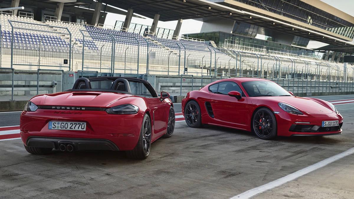 Porsche 718 Boxster GTS и Porsche 718 Cayman GTS