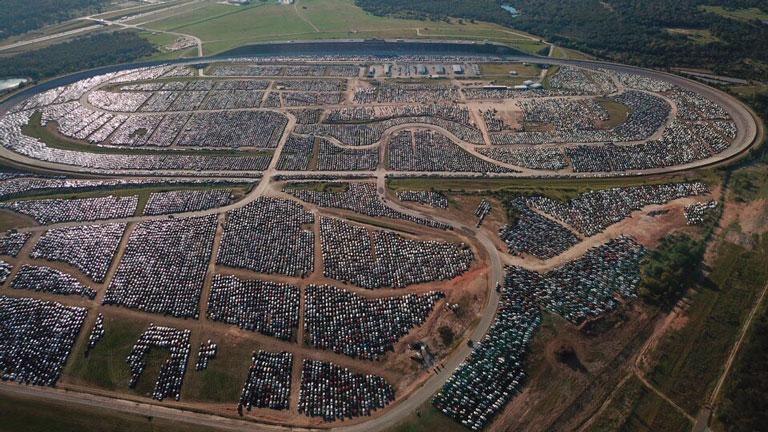 кладбище утопленных автомобилей