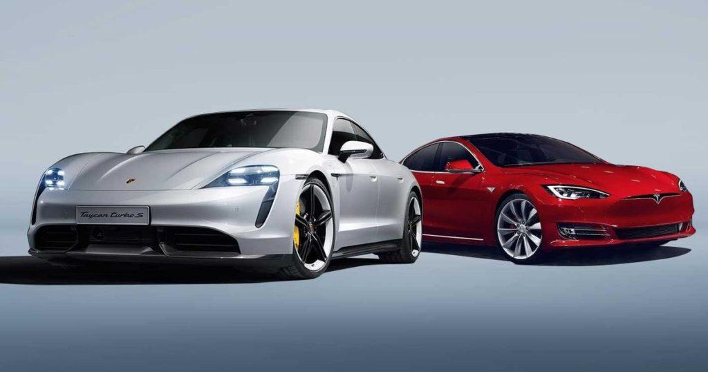 Porsche Taycan против Tesla Model S
