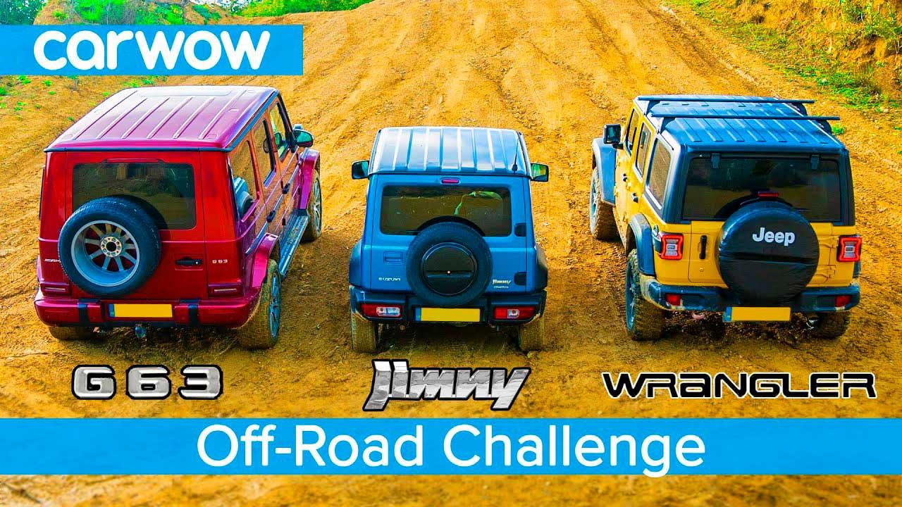 Jimny и Jeep Wrangler Rubicon. Гонки на бездорожье!