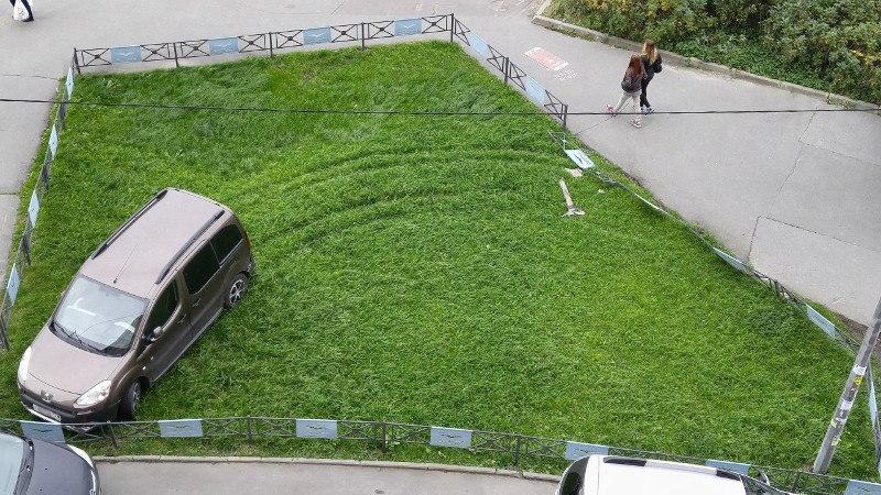 Штраф за парковку на газоне в Санкт-Петербурге повысят в разы