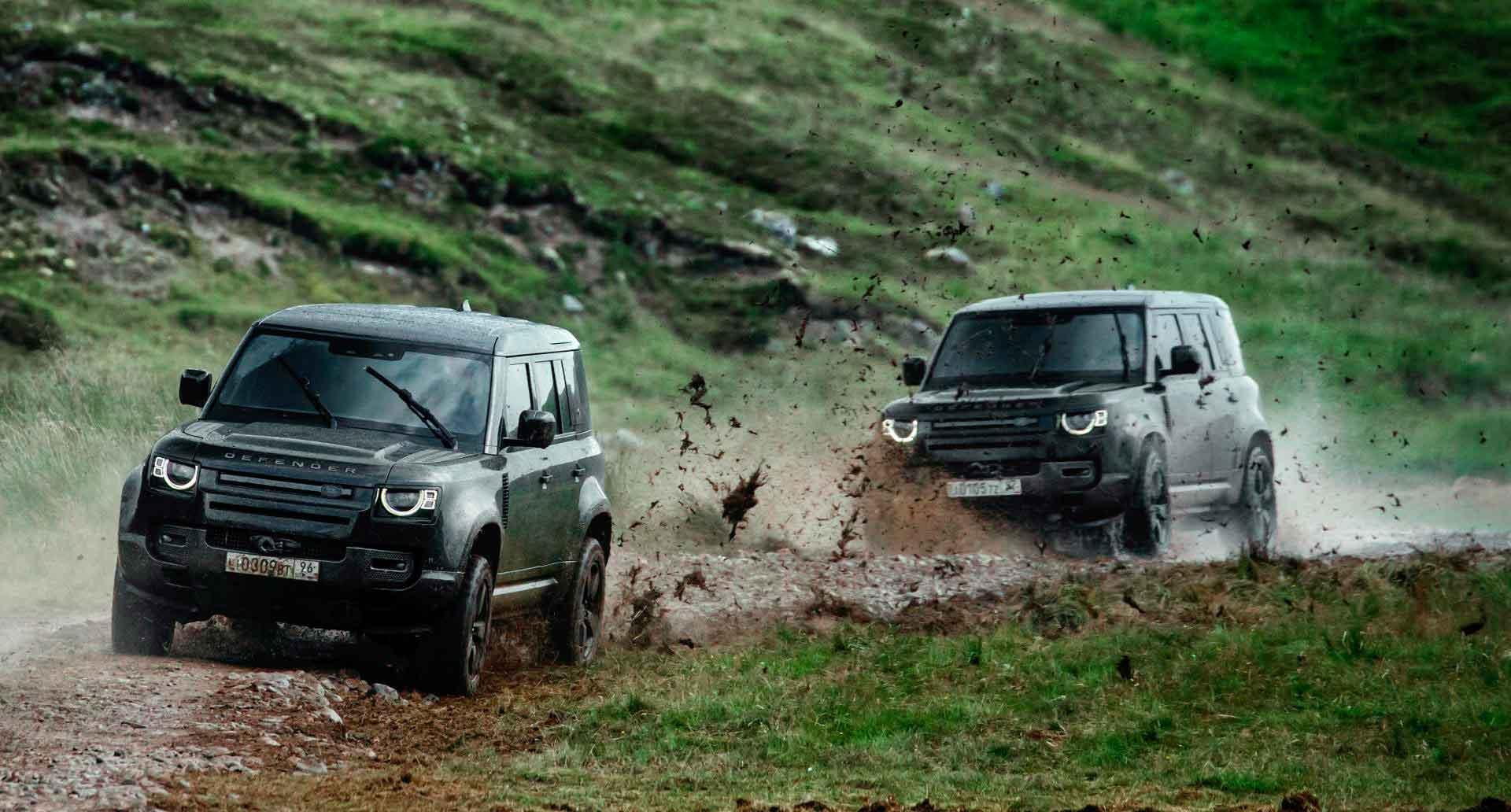 Нет времени умирать! Реклама нового Land Rover Defender.