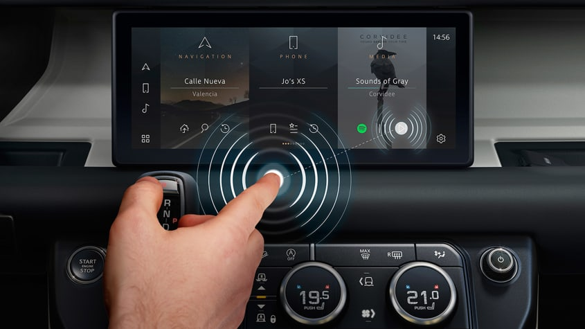 Jaguar Land Rover бесконтактная система