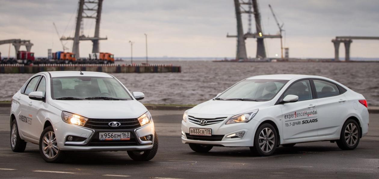 Стоимость обслуживания Lada Vesta и Kia Rio/Hyundai Solaris