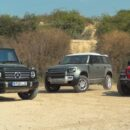 Land Rover Defender 2020 сравнили с Jeep Wrangler и Mercedes-Benz G-Class на бездорожье