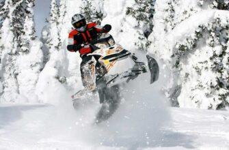 катание на снегоходах