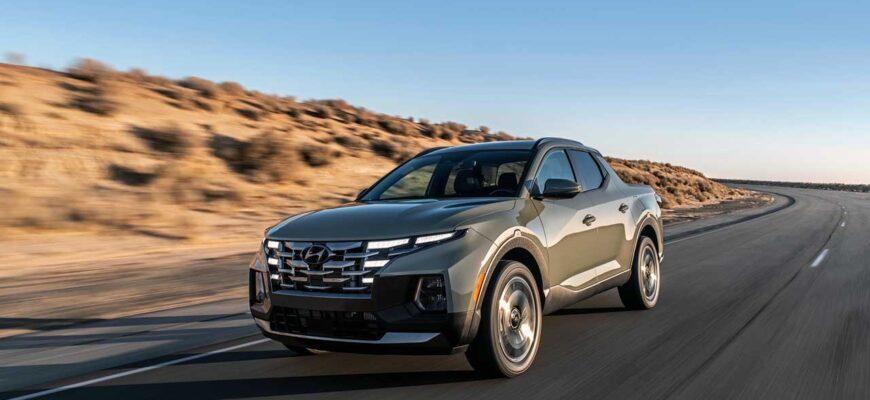 Hyundai Santa Cruz 2022 первый взгляд на городской пикап