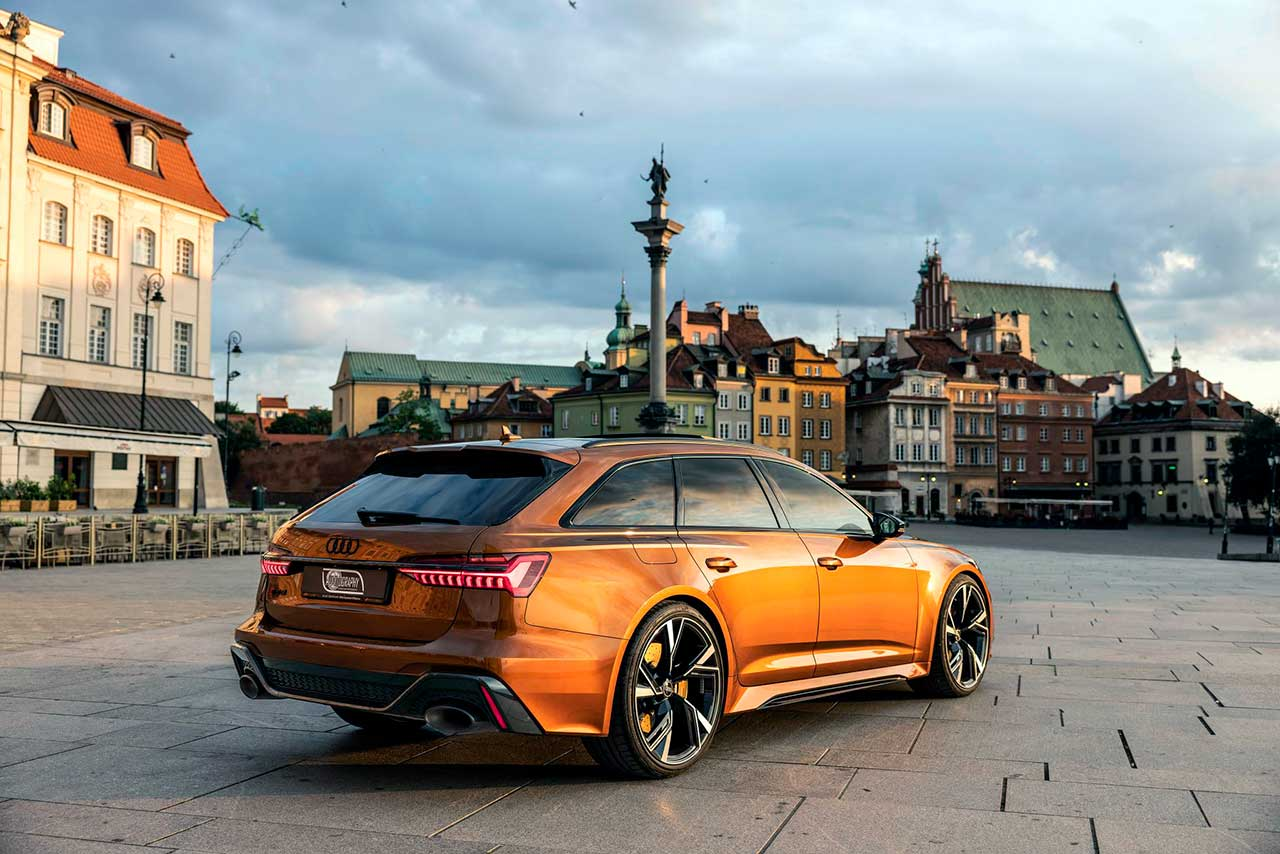 Audi RS6 Avant в цвете Ipanema Brown