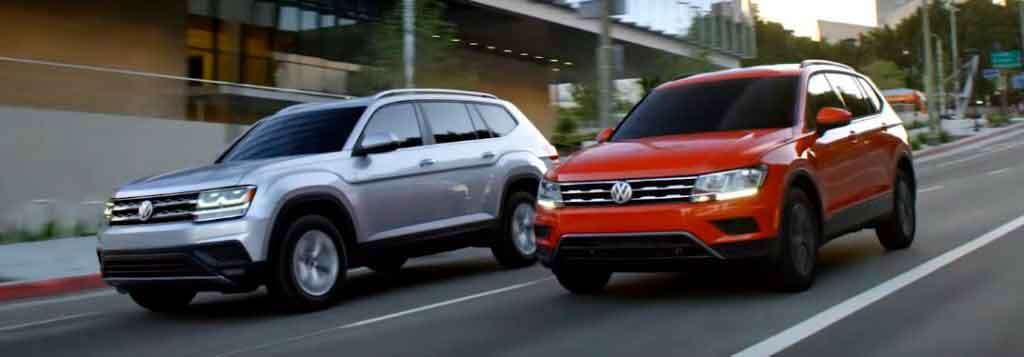 VW Atlas и Tiguan