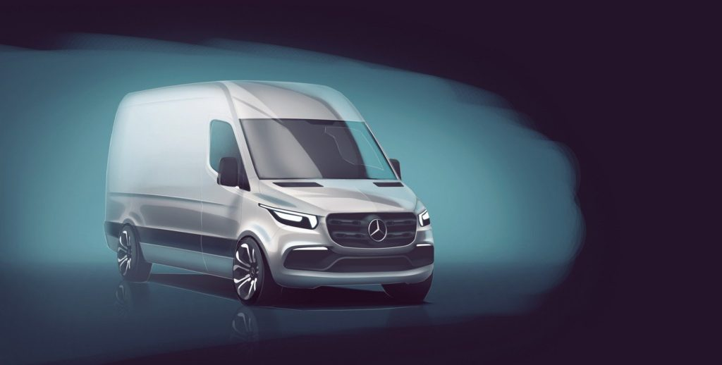 Mercedes-Benz Sprinter 2018 показали на видео