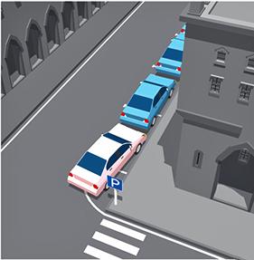 эвакуация за парковку на полукруглой разметке