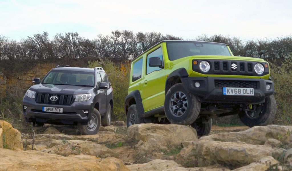 Jimny против Toyota Land Cruiser